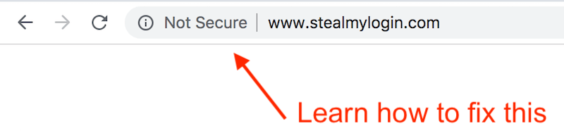 How to fix SSL not secure warning